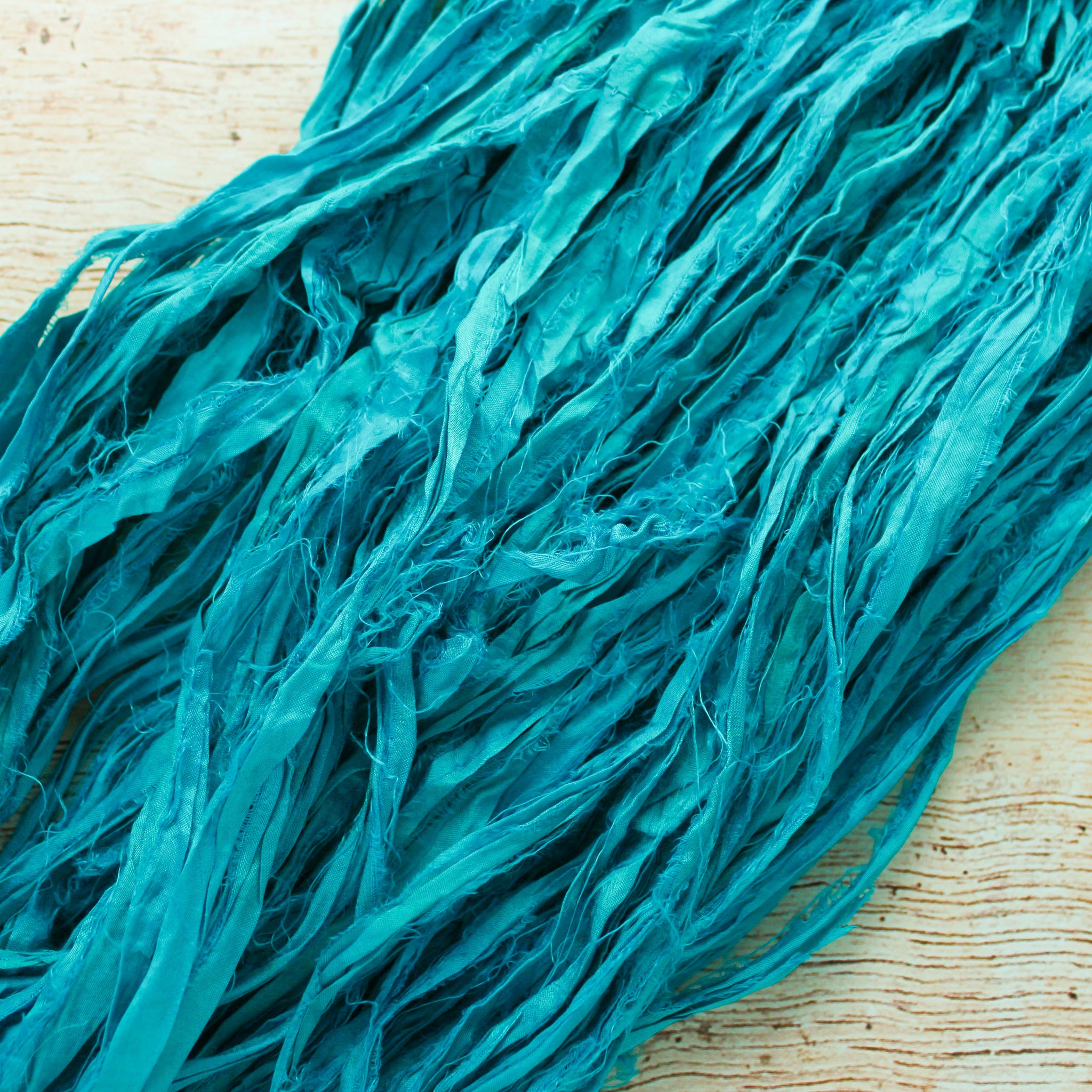 Caribbean Jewel Silk Ribbon
