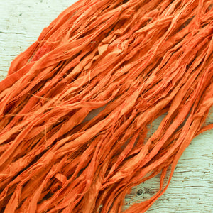 Tiger Lily Silk Ribbon