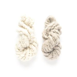 Beach yarn pack white and brown corespun mohair yarn mini skeins