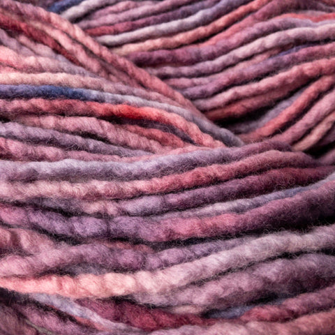 Purple on Purple merino yarn