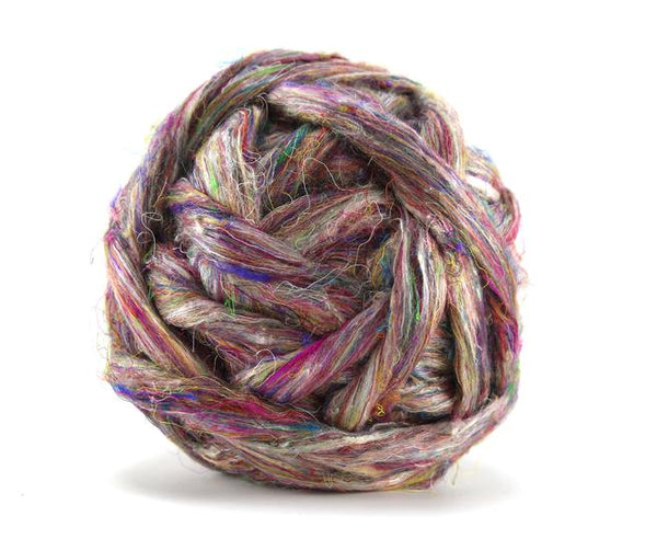 Sari Silk Roving Wildflower