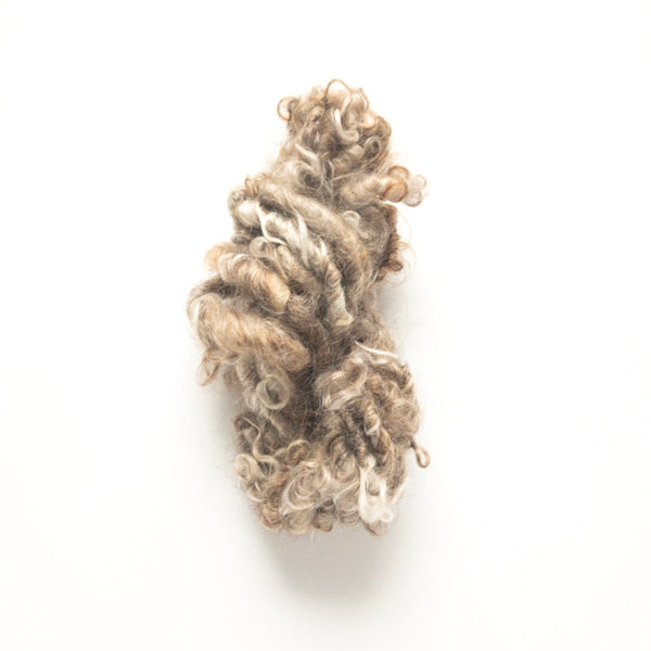 Brown handspun lockspun mohair yarn