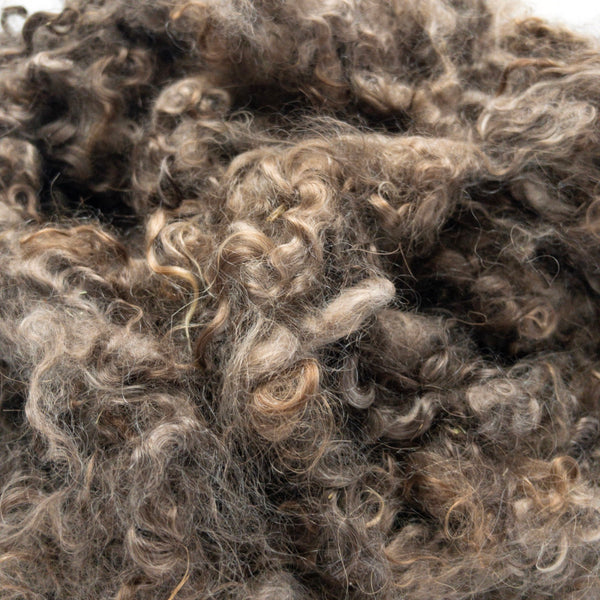 Shades of brown washed mohair locks from angora goats