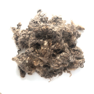 Dark brown washed mohair locks by the ounce
