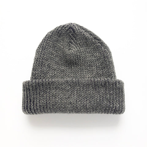 Wool Mohair Watch Hat - Charcoal Gray