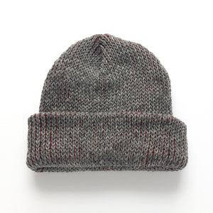 Wool Mohair Watch Hat - Pomegranate Red