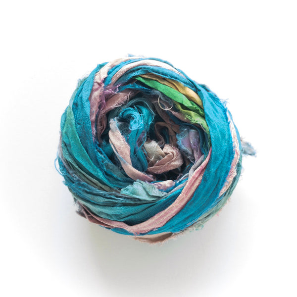 Beach Party Sari Silk Ribbon