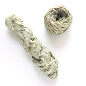 Dried Sage Sari Silk Ribbon