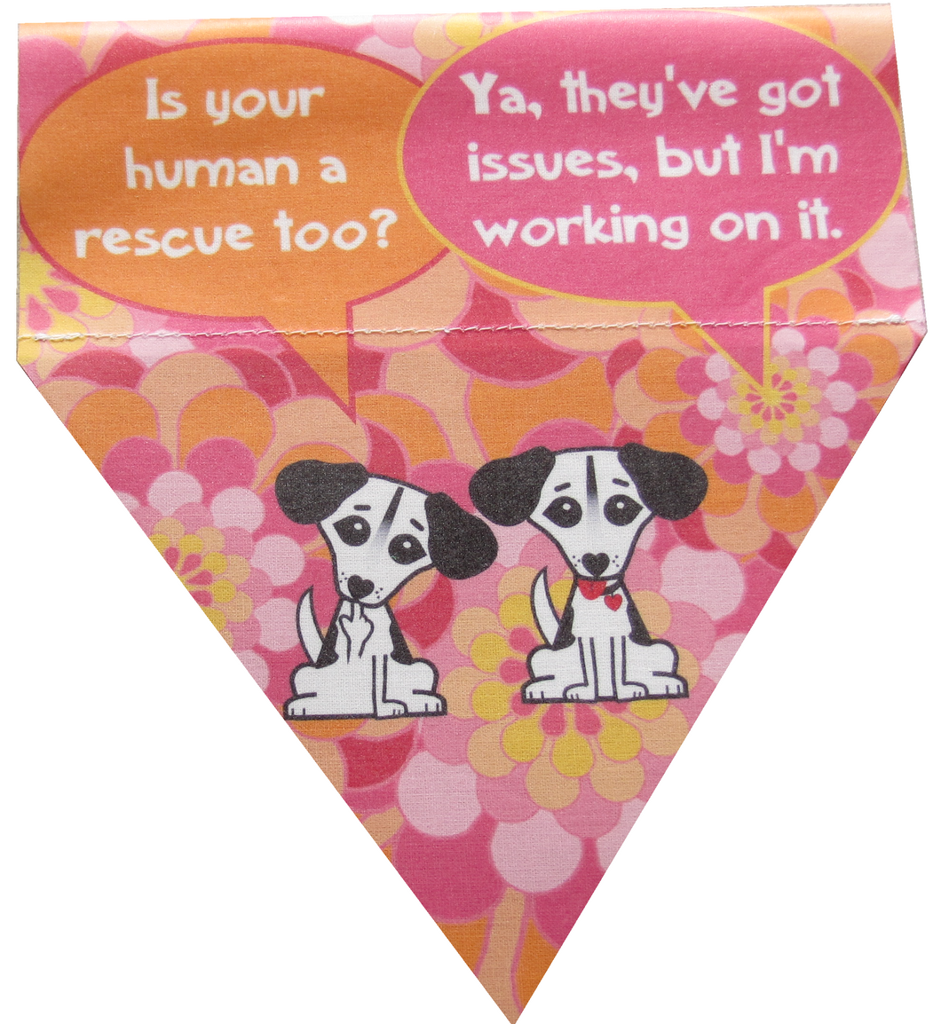 Is your human a rescue too? (pink)