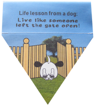 Load image into Gallery viewer, Life lesson from a dog: live like someone left the gate open