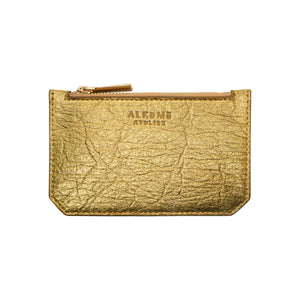 Earth Credit Card Case in Pineapple Leather Pinatex