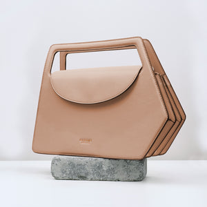 Fire Geometric Flap Satchel