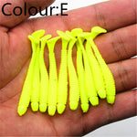 10Pcs/lot 5cm 0.7g Fishing Lure Soft Worm