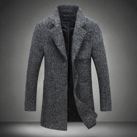 Jacket Autumn and Winter Mens  Wool