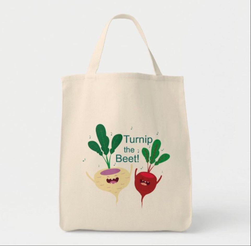 Turnip The Beet Medium Tote