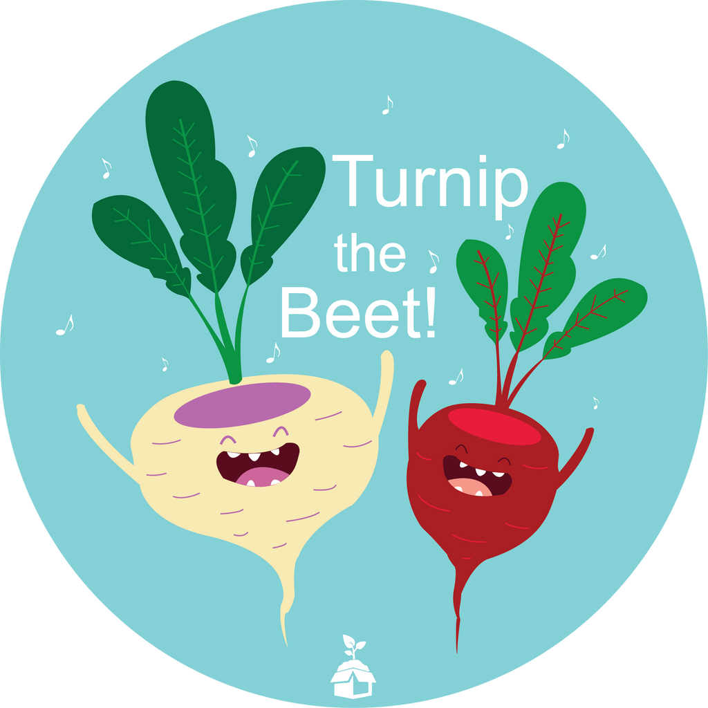 """Turnip the Beet"" Button"