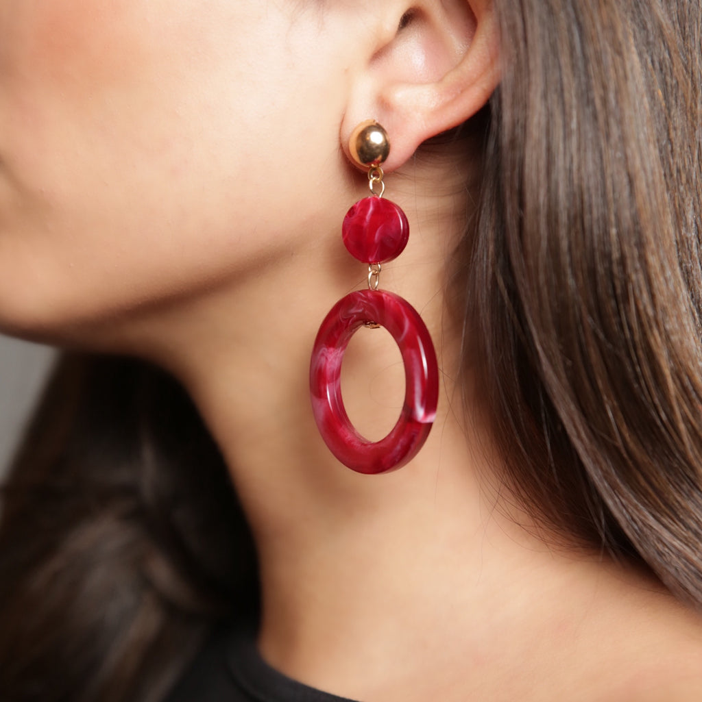 ANJLI Abstract Resin Earring