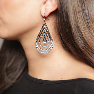 SHIVANI Triple Teardrop Earring