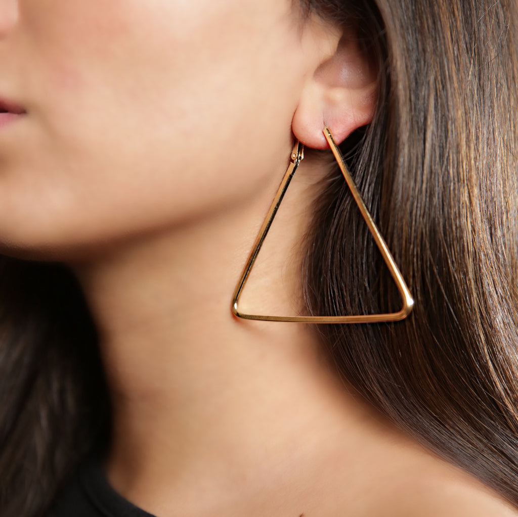 ARIA Triangle Hoop Earring
