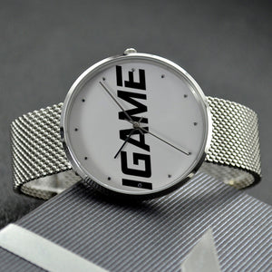 30 Meters Waterproof Quartz Fashion Watch With Casual Stainless Steel Band - iGAME Clothing