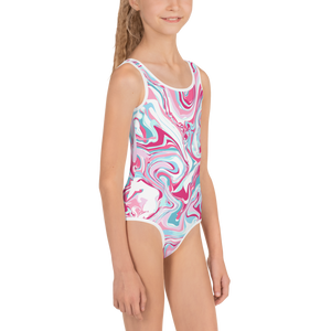 Marble Kids Swimsuit ( White ) - iGAME Clothing