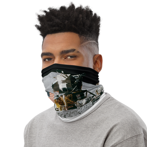 First Man On Moon Neck Gaiter