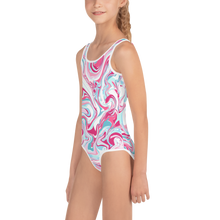 Load image into Gallery viewer, Marble Kids Swimsuit ( White ) - iGAME Clothing