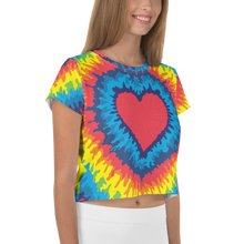 Load image into Gallery viewer, Heart Tie Die Crop Top - iGAME Clothing