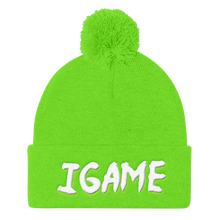 Load image into Gallery viewer, iGAME 3D Knit Beanie ( WHITE ) - iGAME Clothing