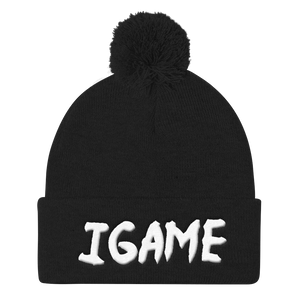 iGAME 3D Knit Beanie ( WHITE ) - iGAME Clothing