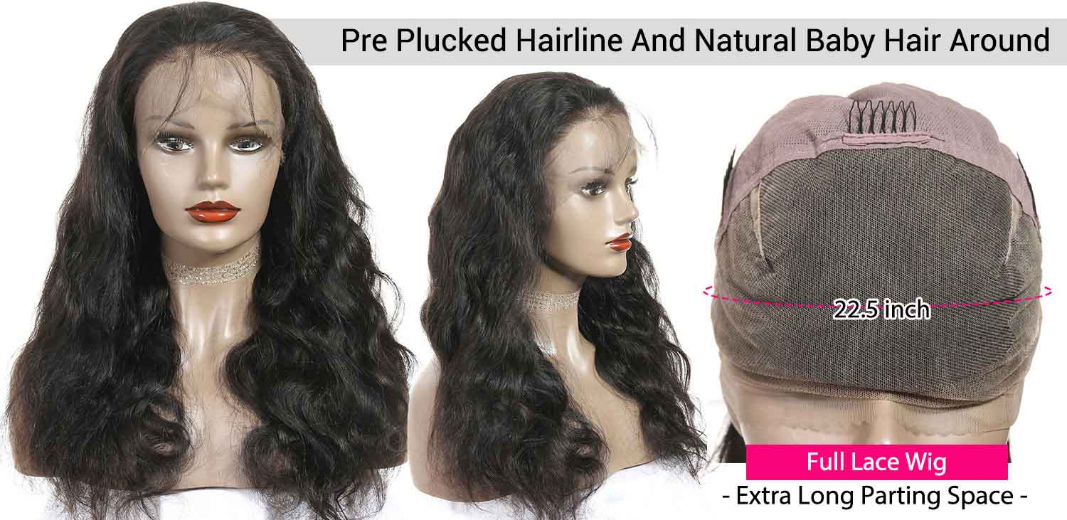 Full Lace Wigs Body Wave Human Hair Wigs-3