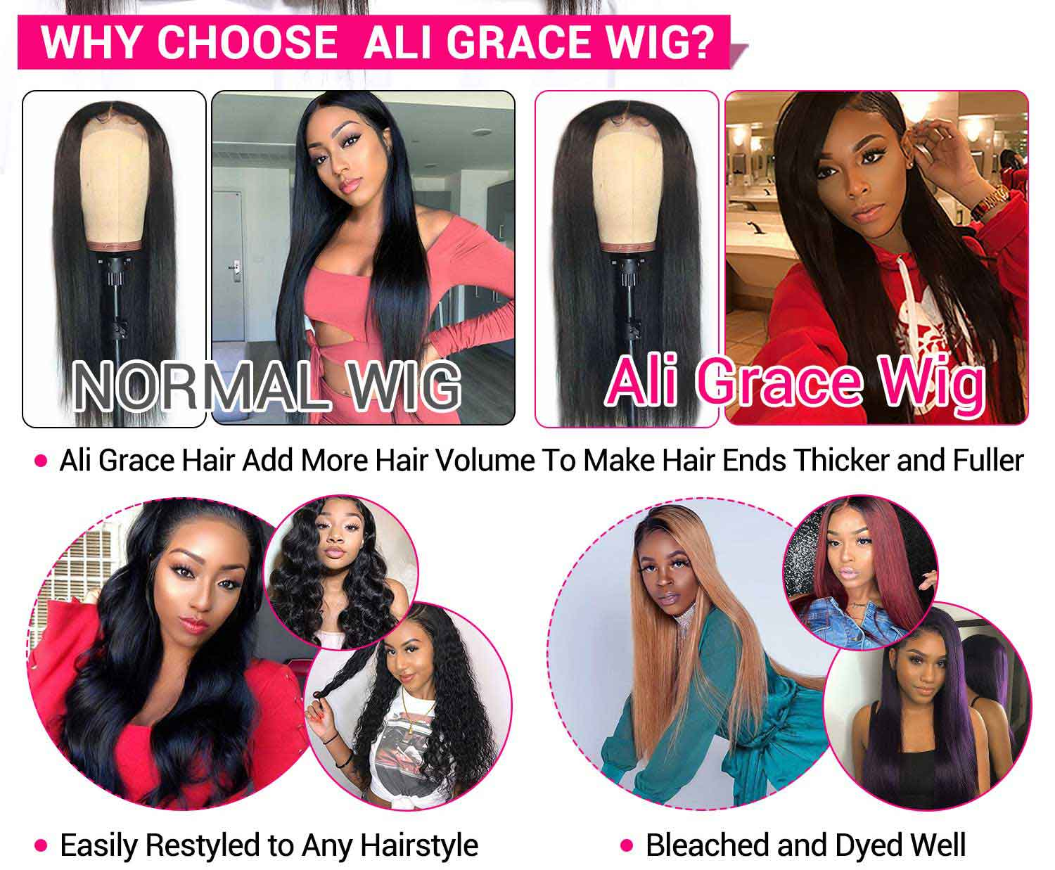 Full Lace Wigs Straight Human Hair Wigs-3