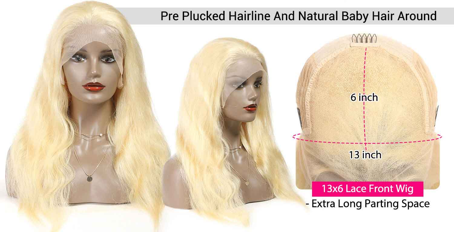 613 Blonde Color Human Hair Wigs-3