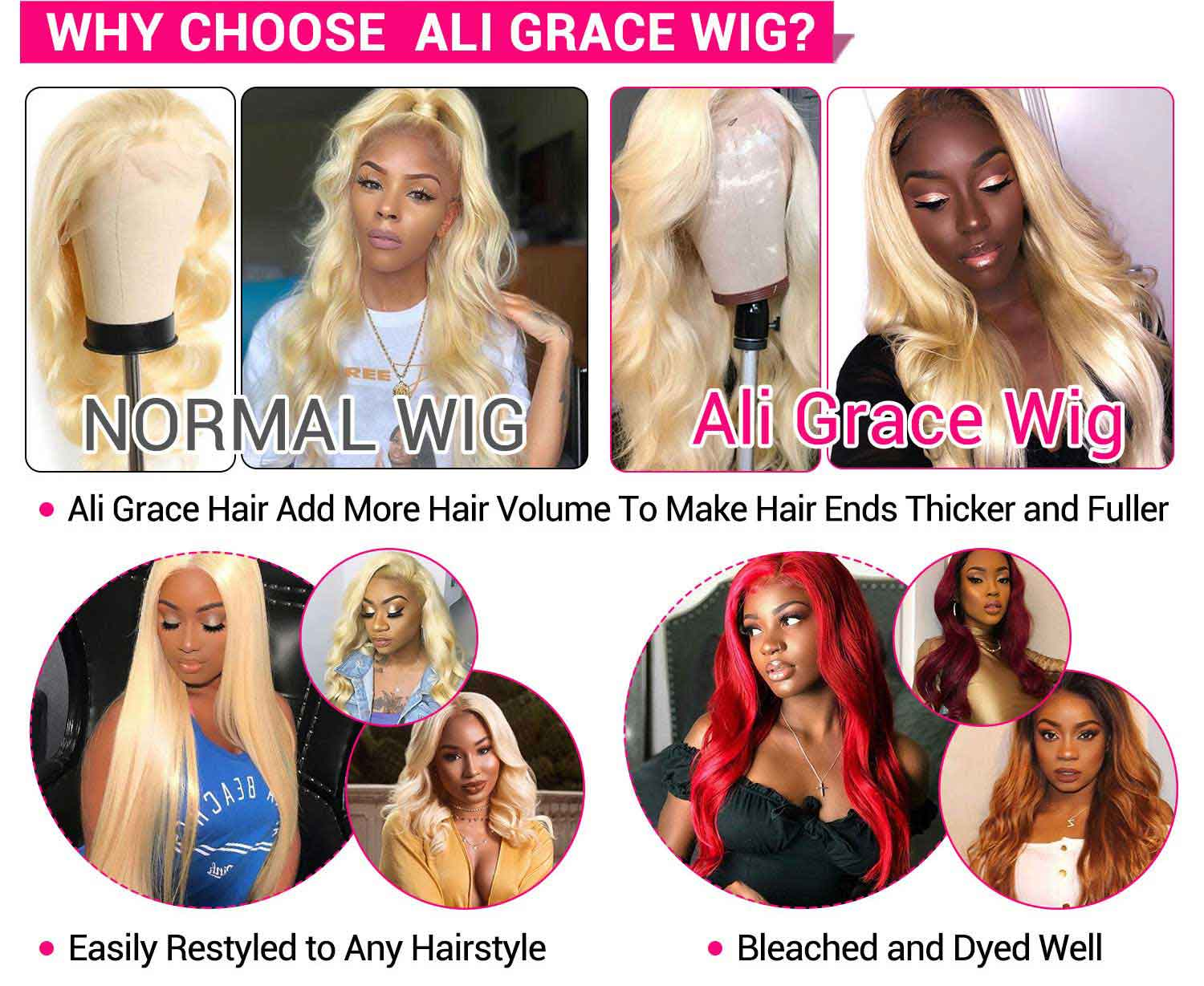 613 Blonde Color Human Hair Wigs-4