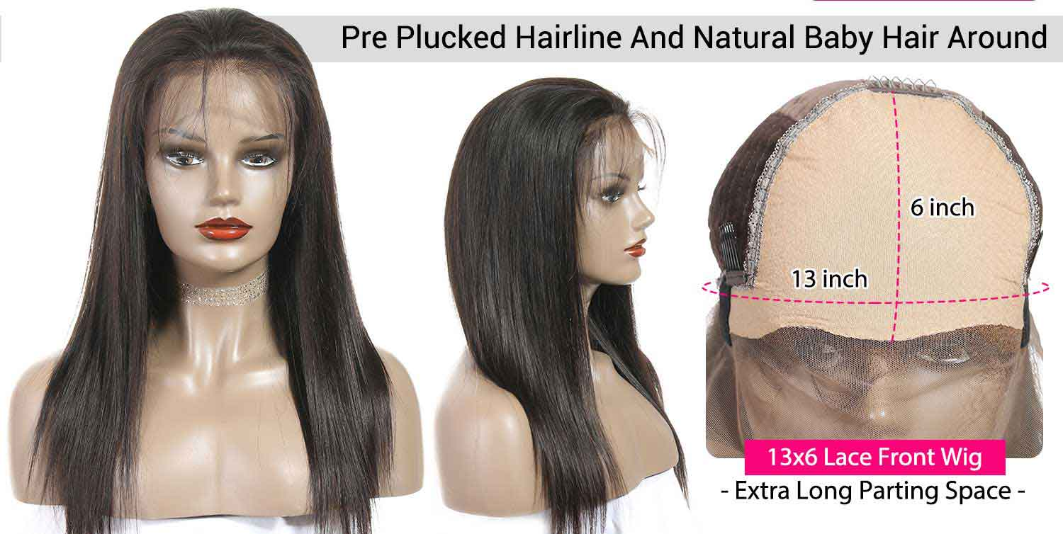 Straight Lace Front Human Hair Wigs-3