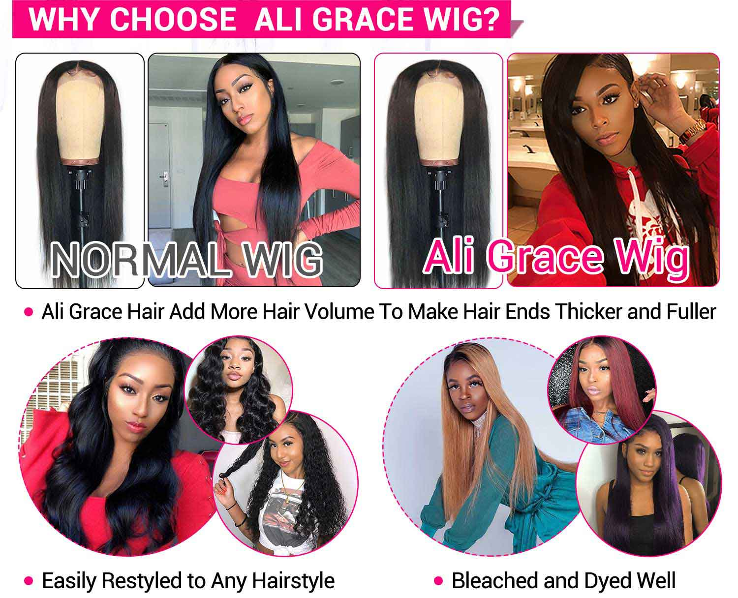 Straight Lace Front Human Hair Wigs-4