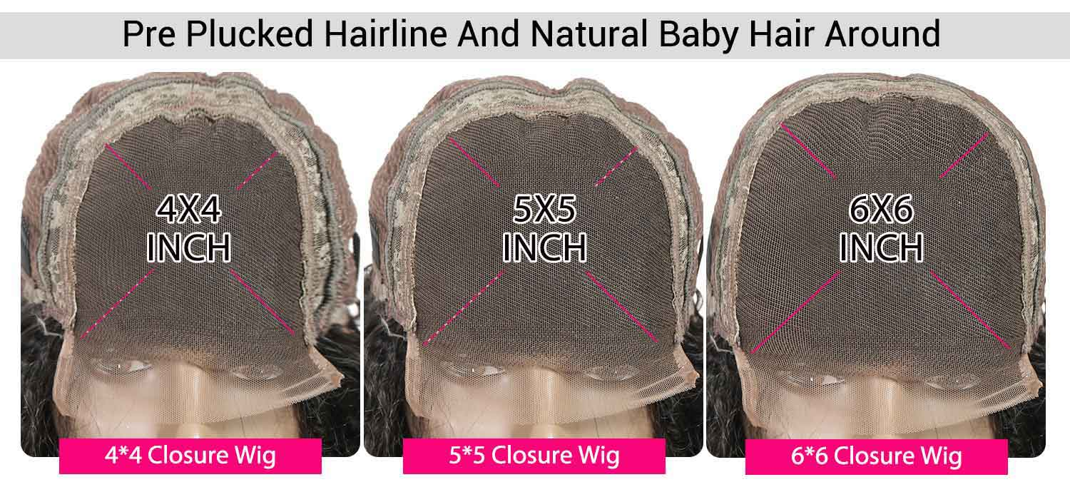 Brazilian Straight Lace Closure Wigs-3