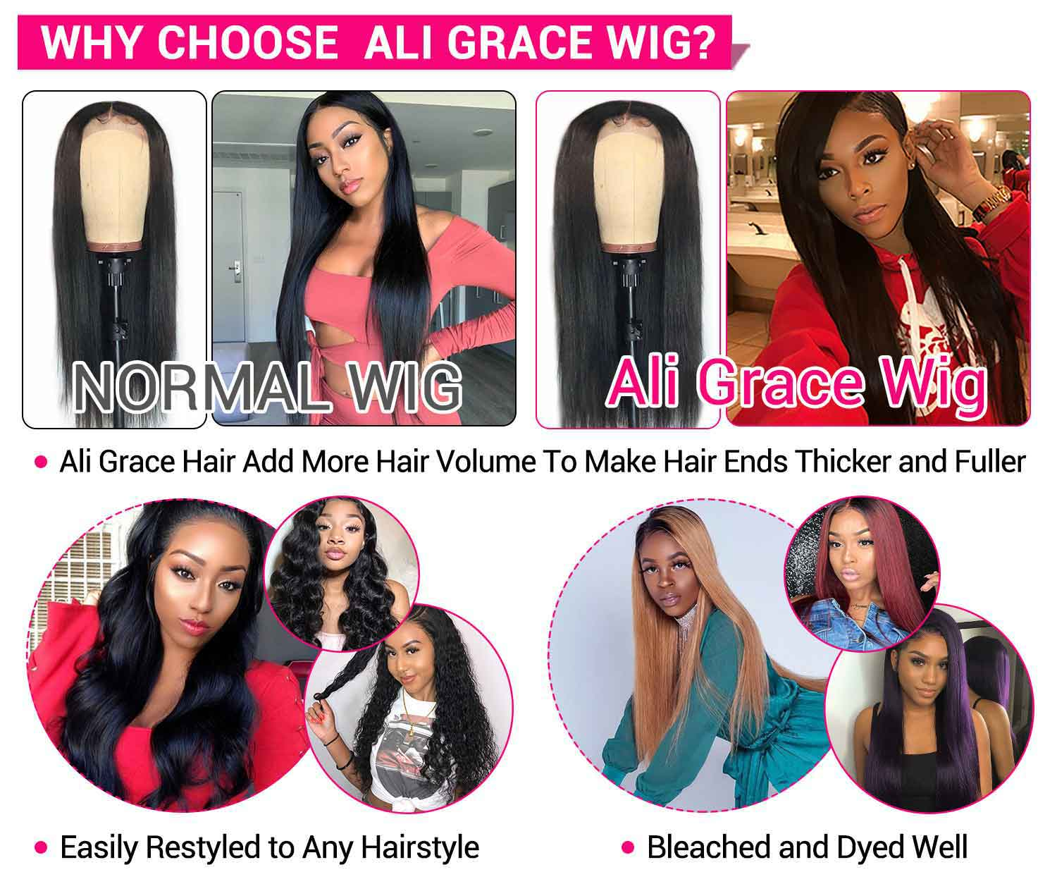 Brazilian Straight Lace Closure Wigs-4