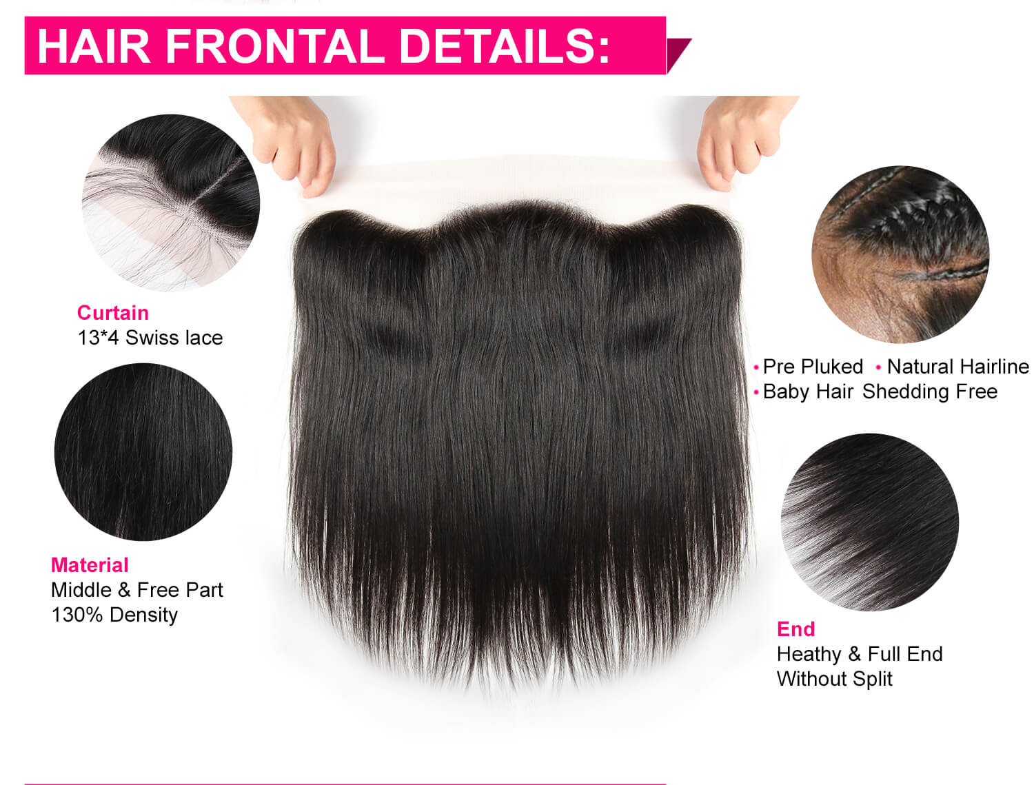 Peruvian Straight Hair 3 Bundles With Frontal-5