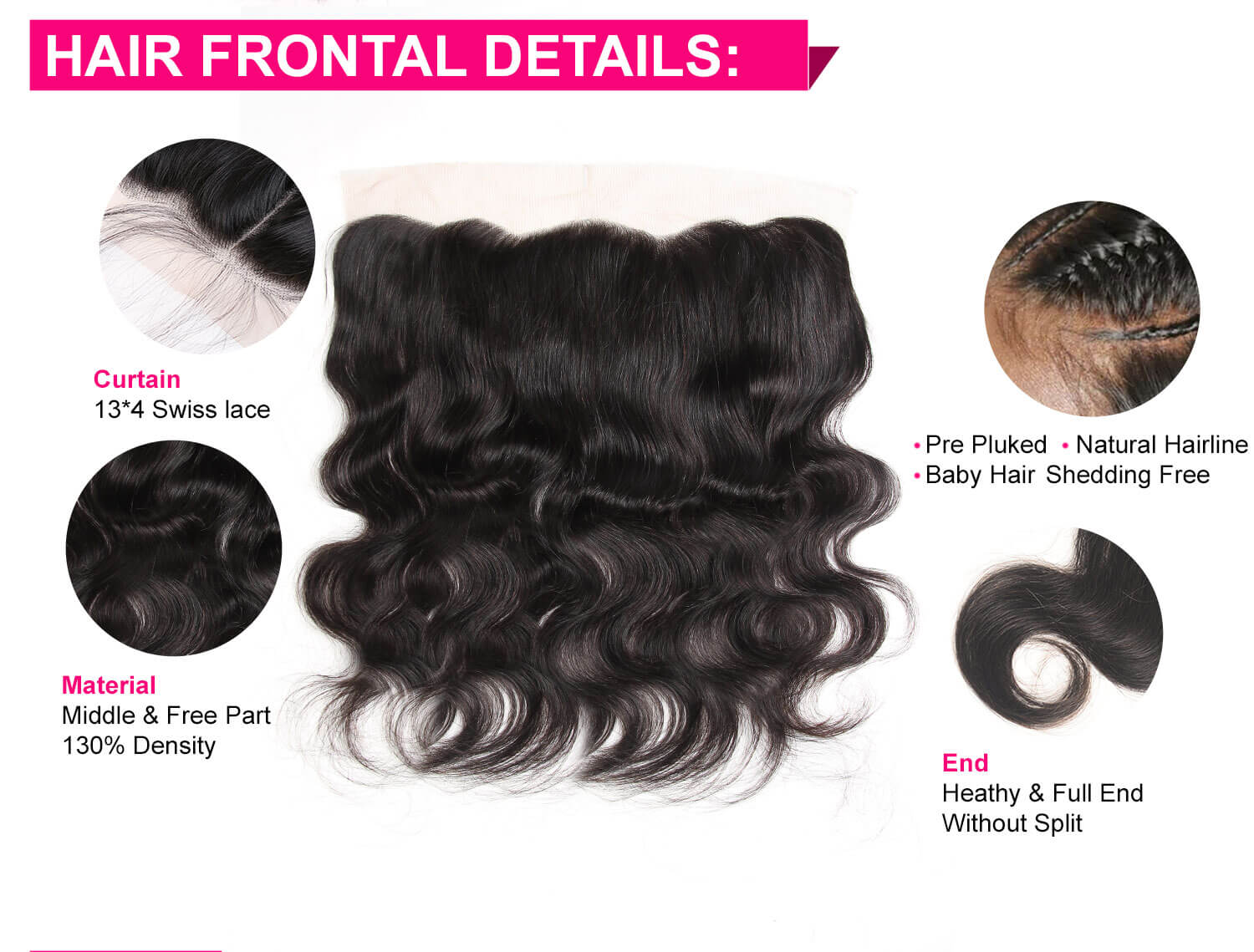 Body Wave Hair Bundles With Lace Frontal-5
