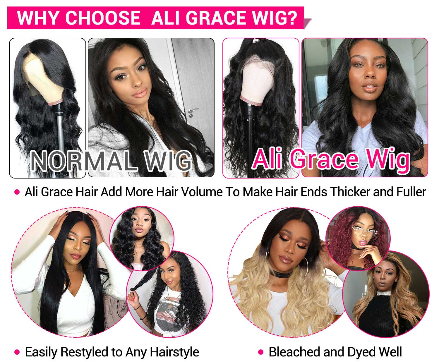 Peruvian Body Wave Lace Front Wigs-4