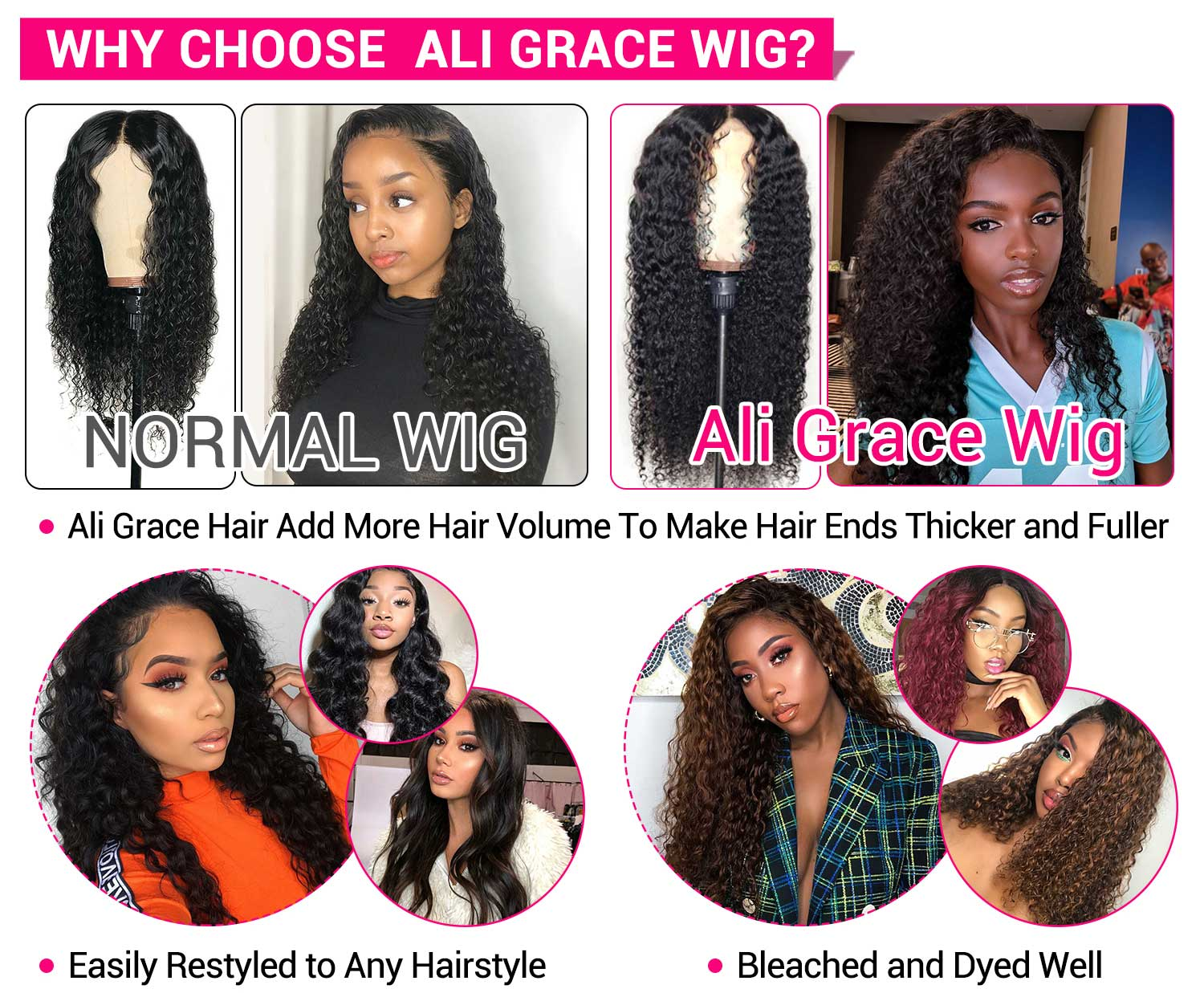 Malaysian Curly Lace Front Human Hair Wigs-4