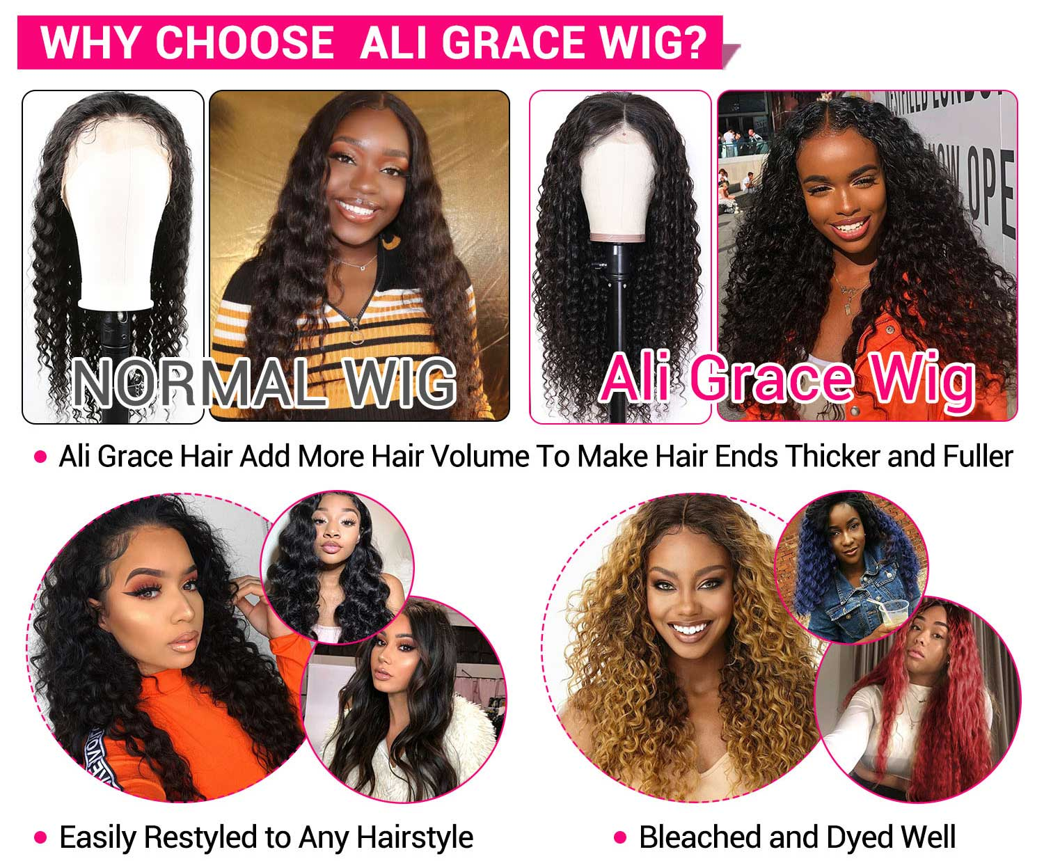 Malaysian Deep Wave Lace Front Wigs-5