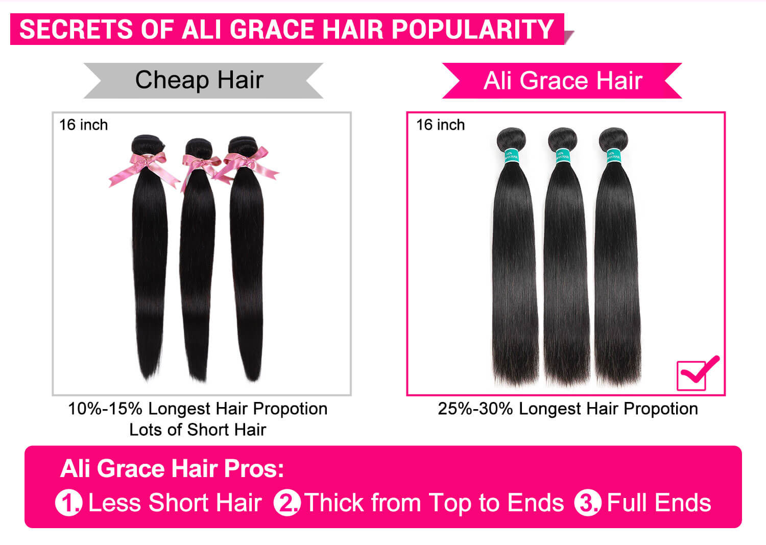 Kinky Straight Human Hair 3 Bundles-3