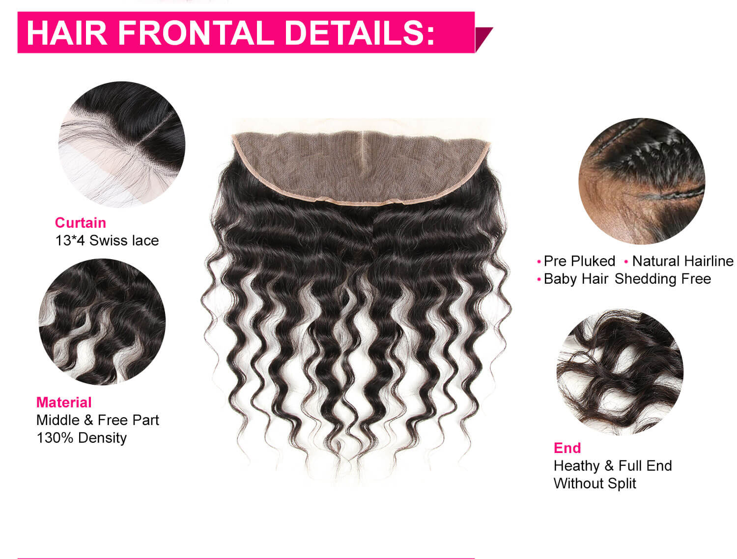 Loose Wave Hair Bundles With Lace Frontal-5