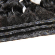 Deep Wave Hair Bundles With Lace Frontal-11