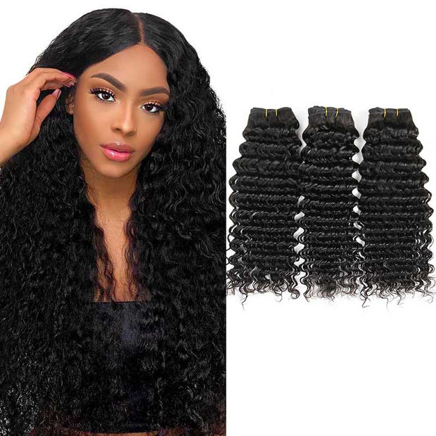 Kinky Straight Human Hair 3 Bundles-7
