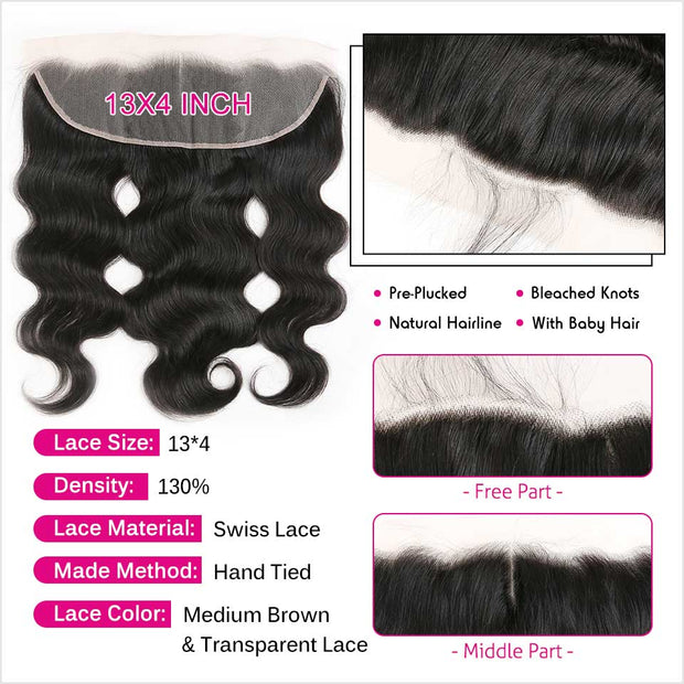 Brazilian Body Wave 13X4 Lace Frontal-3