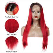 Ombre Straight Human Hair Wigs-12