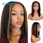 Straight Bob Lace Front Wigs-9
